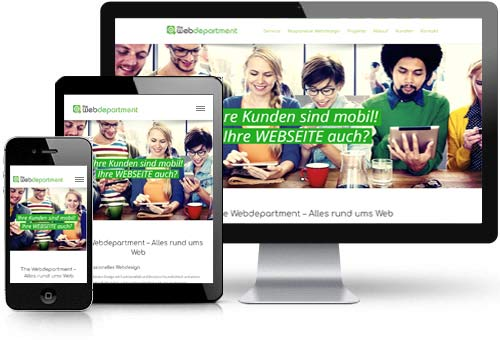 Webdesign Klagenfurt - Responsive Webdesign - optimale Inhaltsanpassung für alle Endgeräte