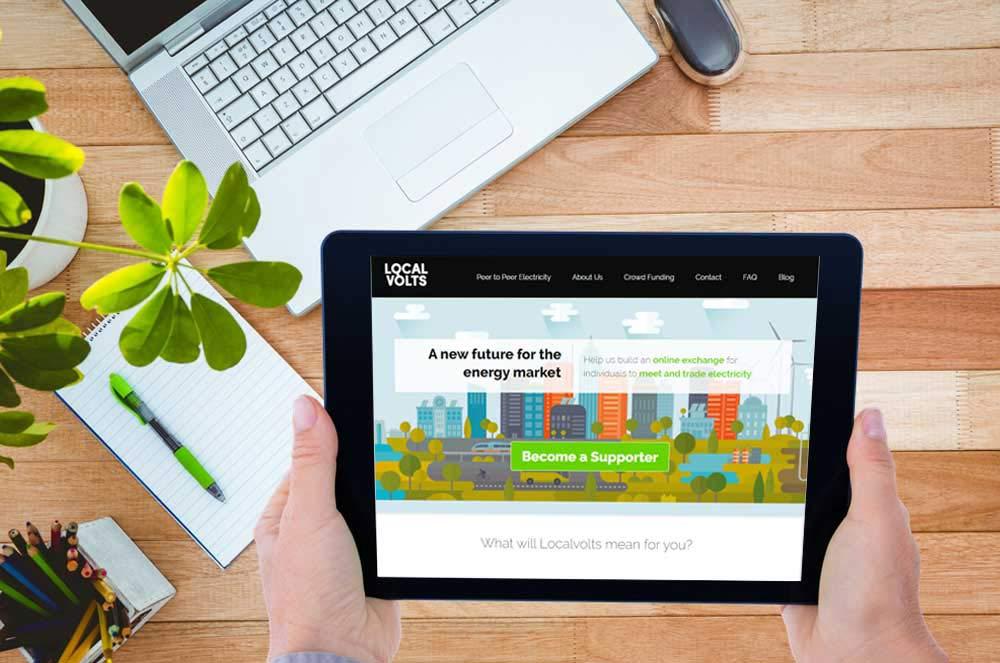 Webdesign Klagenfurt - Webdepartment Portfolio - Wordpress Webseite LocalVolts