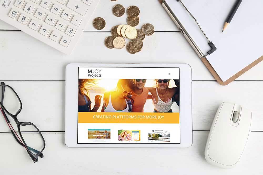 Webdesign Klagenfurt - Webdepartment Portfolio - Wordpress Webseite Mjoy Projects Gmbh