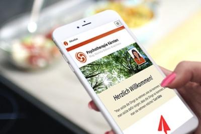 Webdepartment Porfolio - Psychotherapie Kärnten - responsive webdesign Klagenfurt
