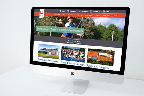 Webdepartment Portfolio - Sportunion Klagenfurt Tennis - Responsive Webdesign Klagenfurt