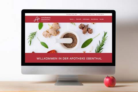 Webdesign Klagenfurt - Webdepartment Portfolio - Wordpress Webseite Apotheke Ebenthal