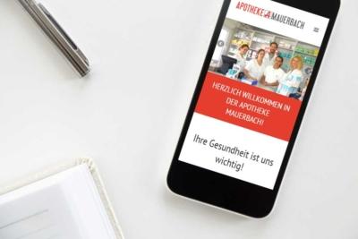 Webdesign Klagenfurt - Webdepartment Portfolio - Wordpress Webseite Apotheke Mauerbach