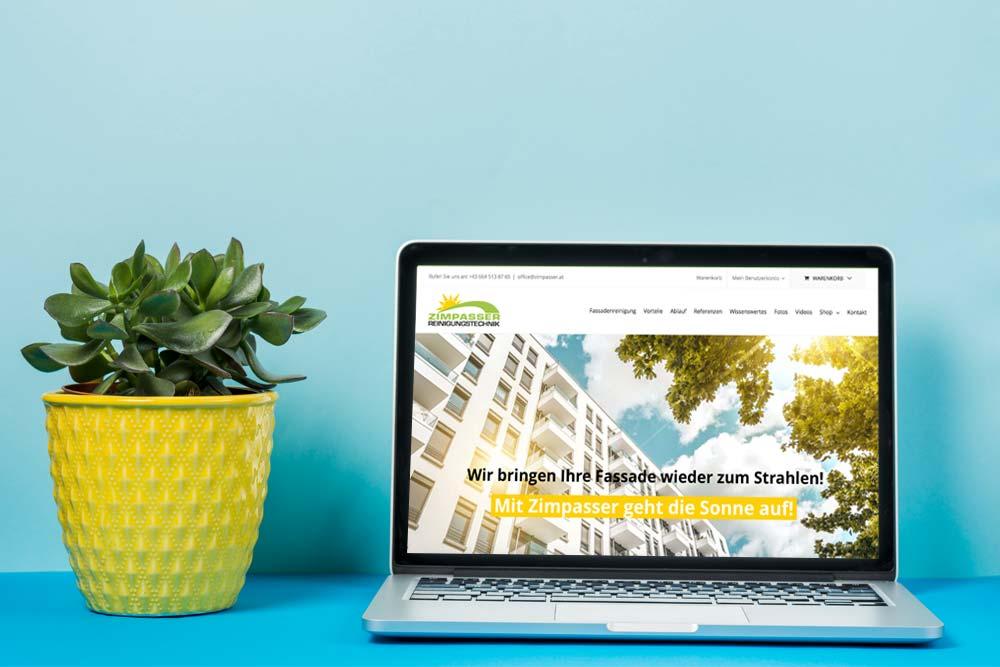 Webdesign Klagenfurt - Webdepartment Portfolio - Neue Webseite für die Firma Zimpasser Fassadenreinigung