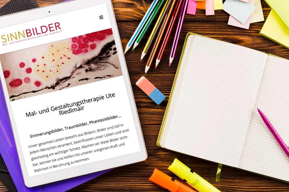 Webdesign Klagenfurt Portfolio Sinnbilder auf Mobile und Tablet
