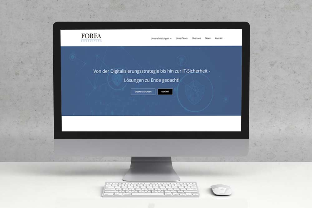 Webdesign Klagenfurt - Portfolio Webdepartment - Neue Webseite für die Internet Security Firma Forfa Consulting