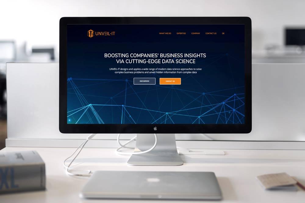 Webdesign Klagenfurt - Portfolio UNVEIL-IT - Webseite für Web Data Analyst Unternehmen