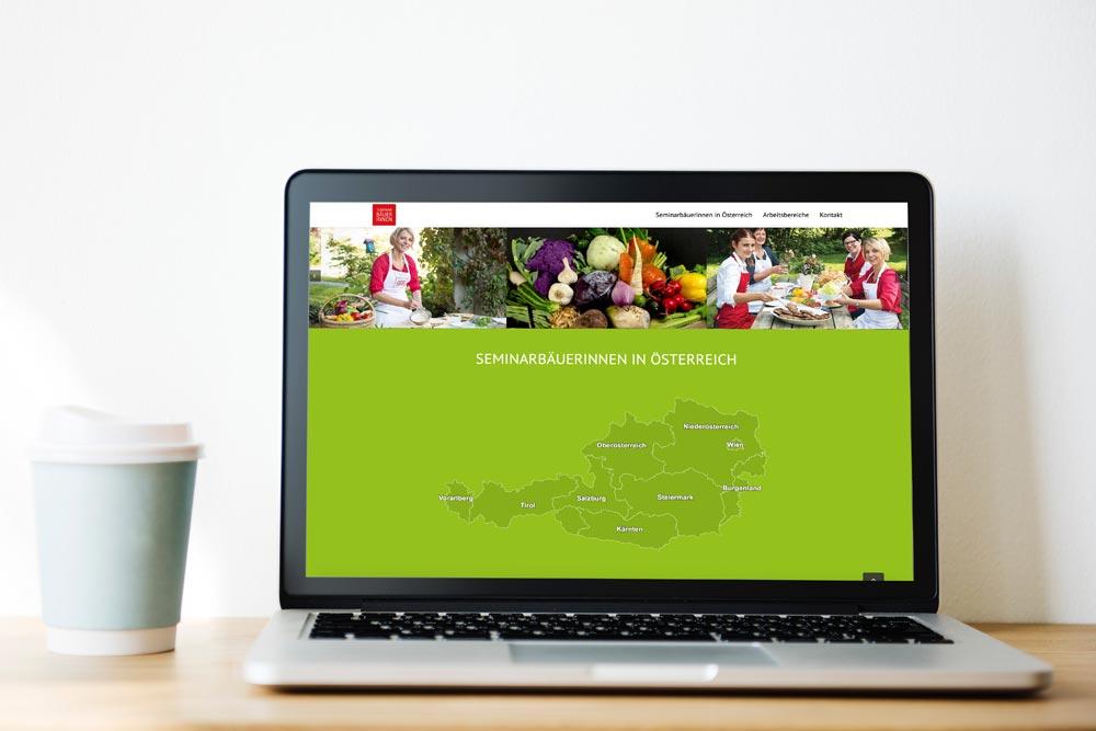 Webdesign Klagenfurt - Portfolio Seminarbäuerinnen Österreich - Webseite der Bundeskoordination der Seminarbäuerinnen
