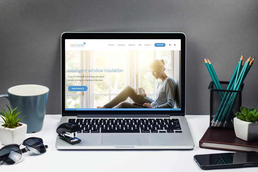 Webdesign Klagenfurt - The Webdepartment Portfolio - Neue Webseite für Clear Comfort, ein Australisches Unternehmen für Fensterisulation. Shopping Cart Webseite - E-commerce